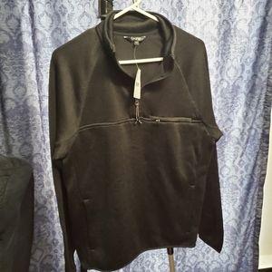 George Sweater Fleece Quarter Zip Pullover - Black S/P